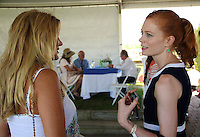 Kelli Delaney Kot and Jessica Jaffe attend The Hampton Classic 2014 on Aug. 27, 2014 (Photo by Taylor Donohue / Guest of a Guest)