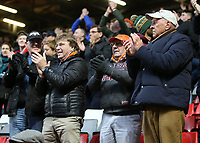 Blackpool fans show their appreciation for their sides efforts at the final whistle<br /> <br /> Photographer David Shipman/CameraSport<br /> <br /> The EFL Sky Bet League One - Charlton Athletic v Blackpool - Saturday 16th February 2019 - The Valley - London<br /> <br /> World Copyright © 2019 CameraSport. All rights reserved. 43 Linden Ave. Countesthorpe. Leicester. England. LE8 5PG - Tel: +44 (0) 116 277 4147 - admin@camerasport.com - www.camerasport.com