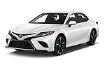 2018 Toyota Camry XSE 4 Door Sedan Angular Front automotive stock photos of front three quarter view
