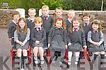 Enjoying their junior infants at Curraheen National School, Glenbeigh on Monday were Audrey O'Shea, Emily Murphy, Aela Murphy, Sinead Clifford, Alisha O'Shea, Calum O'Connor, Cathal Griffin, Craig Clifford, Lucas Riordan, Anthony Diggin and Ryan McCarthy.............................................................................................................