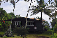 Rental cabin at Waianapanapa State Park near Hana on Maui in Hawaii