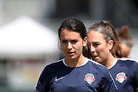 Cary, North Carolina  - Saturday August 19, 2017: Cali Farquharson prior to a regular season National Women's Soccer League (NWSL) match between the North Carolina Courage and the Washington Spirit at Sahlen's Stadium at WakeMed Soccer Park. North Carolina won the game 2-0.