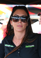 May 31, 2013; Englishtown, NJ, USA: NHRA funny car driver Alexis DeJoria during qualifying for the Summer Nationals at Raceway Park. Mandatory Credit: Mark J. Rebilas-