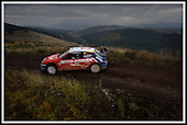 Last day in the office - Colin McRae took leave of his Citroen rally car for the last time yesterday (Tue) - at a corporate day in the Forest of Ae - still without a WRC seat for next season - but with The Scotsman's James Dow in the c0-drivers seat for a while  ... Pic Donald MacLeod 11.11.03