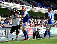 Swansea City's Wayne Routledge battles with Ipswich Town's Callum Elder<br /> <br /> Photographer Hannah Fountain/CameraSport<br /> <br /> The EFL Sky Bet Championship - Ipswich Town v Swansea City - Monday 22nd April 2019 - Portman Road - Ipswich<br /> <br /> World Copyright © 2019 CameraSport. All rights reserved. 43 Linden Ave. Countesthorpe. Leicester. England. LE8 5PG - Tel: +44 (0) 116 277 4147 - admin@camerasport.com - www.camerasport.com