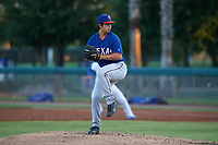 AZL Rangers relief pitcher Joseph Jarneski (20) during an Arizona League game against the AZL Dodgers Mota at Camelback Ranch on June 18, 2019 in Glendale, Arizona. AZL Dodgers Mota defeated AZL Rangers 13-4. (Zachary Lucy/Four Seam Images)