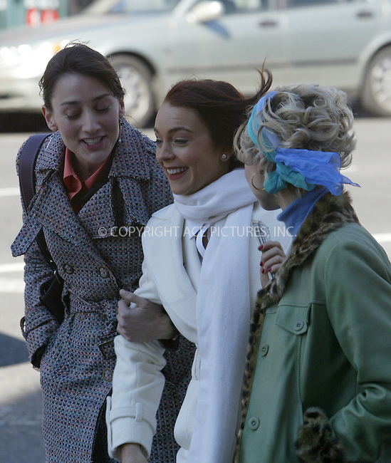 WWW.ACEPIXS.COM . . . . .  ....NEW YORK, MARCH 15, 2005....Lindsay Lohan on the set of her new movie 'Just My Luck.'....Please byline: Ian Wingfield - ACE PICTURES..... *** ***..Ace Pictures, Inc:  ..Philip Vaughan (646) 769-0430..e-mail: info@acepixs.com..web: http://www.acepixs.com