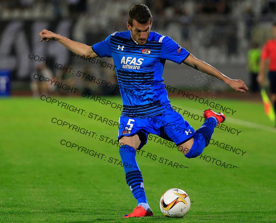 Fudbal UEFA Europa League 2015-2016<br /> Group stage - Group L<br /> Partizan v AZ Alkmaar<br /> Rajko Brezancic<br /> Beograd, 17.09.2015.<br /> foto: Srdjan Stevanovic/Starsportphoto &copy;