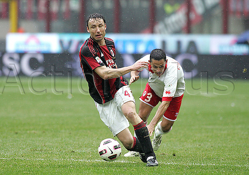 13.03.2011 AC Milan were held to a shock draw at home to basement boys Bari at the San Siro. Picture shows Mark van Bommel.