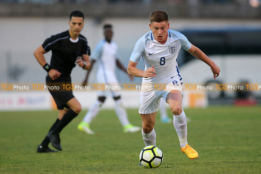 Harvey Barnes of England U18's and Leicester City races upfield during England U18 vs Angola Under-20, Toulon Tournament Football at Stade de Lattre-de-Tassigny on 29th May 2017