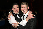 St Johnstone FC Scottish Cup Celebration Dinner at Perth Concert Hall...01.02.15<br /> Local boys, David Wotherspoon (right) pictured with his brother Ian<br /> Picture by Graeme Hart.<br /> Copyright Perthshire Picture Agency<br /> Tel: 01738 623350  Mobile: 07990 594431