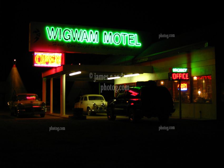 Wigwam Motel Holbrook Arizona. 23 March 2008 just off Historic US Route 66.