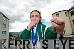 Melanie Pierse on Wednesday. Melanie from Ballinorig, Tralee received a bronze medal in individual sparring and a silver in team sparring in the world Taekwondo Championships in London last weekend.