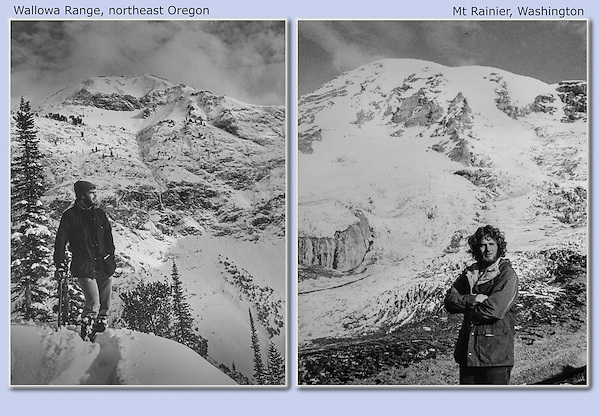 John exploring the Wallowa Range and Mount Rainier, while in graduate school for entomology at Washington State University. late 1970s. Back then, one explored black and white photography.