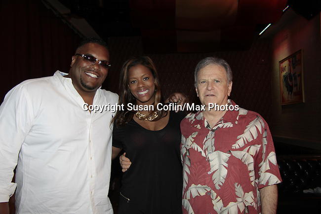 Sean Ringgold - fiance Nicole Johnson - Robert Woods - 11th Annual Daytime Stars & Strikes Event for Autism - 2015 on April 19, 2015 hosted by Guiding Light's Jerry ver Dorn (& OLTL) and Liz Keifer at Bowlmor Lanes Times Square, New York City, New York. (Photos by Sue Coflin/Max Photos)