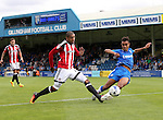 Sheffield United's Leon Clarke fires in a shot during the League One match at the Priestfield Stadium, Gillingham. Picture date: September 4th, 2016. Pic David Klein/Sportimage