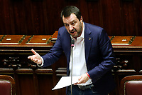 Matteo Salvini<br /> Rome February 13th 2019. Lower Chamber. Ministers of Internal Affairs, of Labour and of Health at the Question Time at the Chamber of Deputies.<br /> Foto Samantha Zucchi Insidefoto