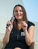 NWA Democrat-Gazette/BEN GOFF @NWABENGOFF<br /> Dr. Sara Reed with Arkansas Children's Northwest, takes part in a panel discussion about the dangers of vaping Wednesday, Oct. 9, 2019, during the Youth Vaping Summit at Bentonville High School.