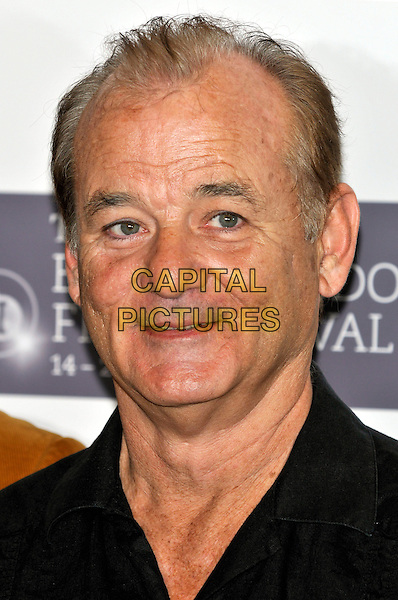 BILL  MURRAY.The 'Fantastic Mr. Fox' photocall during the Times BFI 53rd London Film Festival,  Dorchester Hotel, London, England..October 14th, 2009 .headshot portrait black.CAP/PL.©Phil Loftus/Capital Pictures.