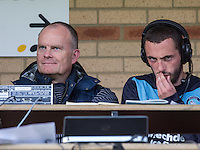 Keith Scott (left) with double goalscorer Michael Harriman of Wycombe Wanderers during the Sky Bet League 2 match between Wycombe Wanderers and Hartlepool United at Adams Park, High Wycombe, England on 5 September 2015. Photo by Andy Rowland.