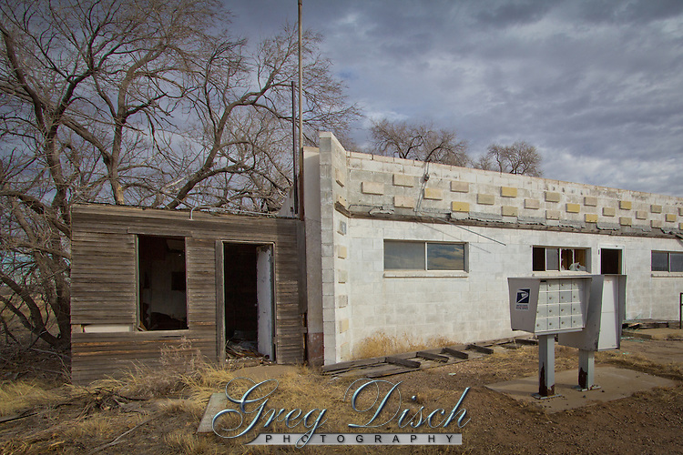 The US Post Office in Glenrio Texas, a ghost town along Route 66., and  was the last remaing business to close.