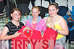 Dawn Ashman, Ballyduff, with Jessica Harris and Clodagh Landy, Listowel check out some clothing items at one of the stalls in at ball duff Horse fair on Sunday...   Copyright Kerry's Eye 2008