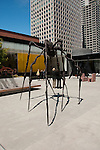 San Francisco Museum of Modern Art, SFMOMA, Rooftop Garden with Louie Bourgeoise sculpture titled Spider.  Photo copyright Lee Foster.  Photo # casanf103963