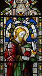 Jesus Christ stained glass window, Claydon church, Suffolk, England, UK c 1867 by Lavers, Barraud and Westlake