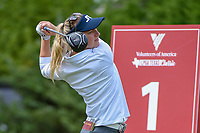 Emily Pedersen (DEN) watches her tee shot on 1 during round 1 of  the Volunteers of America LPGA Texas Classic, at the Old American Golf Club in The Colony, Texas, USA. 5/4/2018.<br /> Picture: Golffile | Ken Murray<br /> <br /> <br /> All photo usage must carry mandatory copyright credit (&copy; Golffile | Ken Murray)
