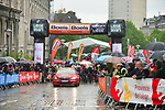 The start of a very wet and miserable 105th edition of Liège-Bastogne-Liège 2019, La Doyenne, running 256km from Liege to Liege, Belgium. 28th April 2019<br /> Picture: ASO/Gautier Demouveaux | Cyclefile<br /> All photos usage must carry mandatory copyright credit (© Cyclefile | ASO/Gautier Demouveaux)