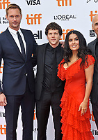 08 September 2018 - Toronto, Ontario, Canada - Alexander Skarsg&aring;rd, Jesse Eisenberg, Salma Hayek. &quot;The Hummingbird Project&quot; Premiere - 2018 Toronto International Film Festival held at the Princess of Wales Theatre. <br /> CAP/ADM/BPC<br /> &copy;BPC/ADM/Capital Pictures