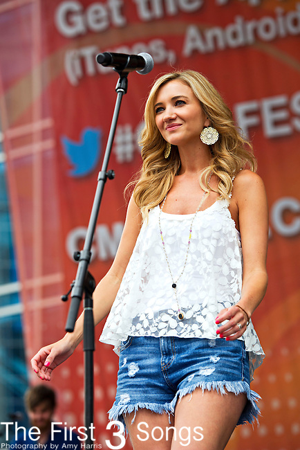 Sarah Darling performs during Day 1 of the 2013 CMA Music Festival in Nashville, Tennessee.