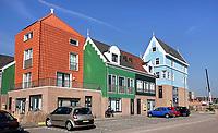 Nederland - Zaandam - 2019.  Nieuwbouw in Zaanse stijl.   Foto Berlinda van Dam / Hollandse Hoogte