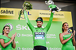 Peter Sagan (SVK) Bora-Hansgrohe retains the points Green Jersey at the end of Stage 6 of the 2019 Tour de France running 160.5km from Mulhouse to La Planche des Belles Filles, France. 11th July 2019.<br /> Picture: ASO/Pauline Ballet | Cyclefile<br /> All photos usage must carry mandatory copyright credit (© Cyclefile | ASO/Pauline Ballet)