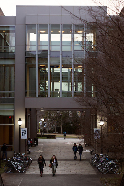 February 23, 2015. Durham, North Carolina.<br />  The Pratt School of Engineering on Duke University's West Campus..