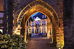 France, Alsace.  <br /> Capturing visitors to Ribeauville, Alsace region, France. Shoot under low light and push your camera to its limits.