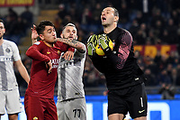 Samir Handanovic of Internazionale saves on Cengiz Under of AS Roma during the Serie A 2018/2019 football match between AS Roma and FC Internazionale at stadio Olimpico, Roma, December, 2, 2018 <br />  Foto Andrea Staccioli / Insidefoto