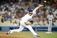 September 24, 2014 Los Angeles, CA: Los Angeles Dodgers starting pitcher Clayton Kershaw #22 during an MLB game between the San Francisco Giants and the Los Angeles Dodgers played at Dodger Stadium The Dodgers defeated the Giants 9-1 to win the National League West Title.