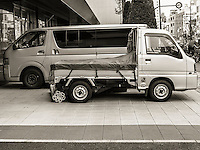 Truck Size in Ota, Japan 2014.