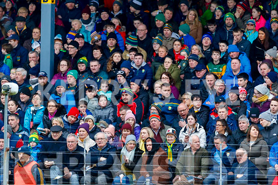 Spectators watch on during the Allianz Football League Division 1 Round 4 match between Kerry and Meath at Fitzgerald Stadium in Killarney, on Sunday.
