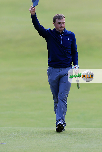 Paul DUNNE (AM)(IRL) finishes joint leader on -12 during Sunday's Round 3 of the 144th Open Championship, St Andrews Old Course, St Andrews, Fife, Scotland. 19/07/2015.<br /> Picture Eoin Clarke, www.golffile.ie