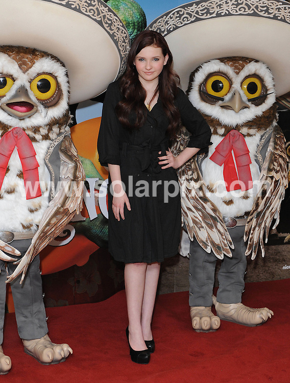 **ALL ROUND PICTURES FROM SOLARPIX.COM**                                             **WORLDWIDE SYNDICATION RIGHTS**                                                                                  Caption: Photocall for the new animated film Rango at Claridge's Hotel in London, UK. 22 February 2011                                                                              This pic: Abigail Breslin                                                                                           JOB REF: 12874 SSD       DATE: 22_02_2011                                                           **MUST CREDIT SOLARPIX.COM OR DOUBLE FEE WILL BE CHARGED**                                                                      **MUST AGREE FEE BEFORE ONLINE USAGE**                               **CALL US ON: +34 952 811 768 or LOW RATE FROM UK 0844 617 7637**
