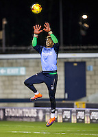 Goalkeeper Jamal Blackman (on loan from Chelsea) of Wycombe Wanderers during the Checkatrade Trophy round two Southern Section match between Millwall and Wycombe Wanderers at The Den, London, England on the 7th December 2016. Photo by Liam McAvoy.