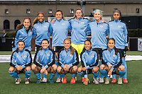Allston, MA - Saturday, May 07, 2016: Chicago Red Stars starting eleven during a regular season National Women's Soccer League (NWSL) match at Jordan Field.