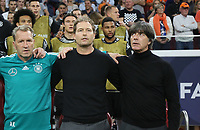 Bundestrainer Joachim Loew (Deutschland Germany) genervt von den Pfiffen bei der Deutschen Hymne - 13.10.2018: Niederlande vs. Deutschland, 3. Spieltag UEFA Nations League, Johann Cruijff Arena Amsterdam, DISCLAIMER: DFB regulations prohibit any use of photographs as image sequences and/or quasi-video.