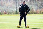 St Johnstone Training….Manager Tommy Wright pictured during training at McDiarmid Park ahead of Sundays game against Celtic.<br />