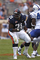 24 September 2005:  Virginia guard Branden Albert (71)..Virginia Cavaliers defeated the Duke Blue Devils 38-7 at Scott Stadium in Charlottesville, VA.