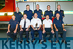 Station officer Billy O'Connor retiring after 30 years service at Castleisland Fire Station. Pictured here with Michael Hession, Chief Fire Officer and  work colleagues Eamonn Egan, T J O'Connor, Michael Flynn, Tony Nolan, Denny Graney, Danny Murphy, Denis McCarthy, Daniel Egan