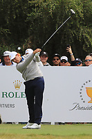 Patrick Cantlay (USA) on the 2nd tee during the Second Round - Foursomes of the Presidents Cup 2019, Royal Melbourne Golf Club, Melbourne, Victoria, Australia. 13/12/2019.<br /> Picture Thos Caffrey / Golffile.ie<br /> <br /> All photo usage must carry mandatory copyright credit (© Golffile | Thos Caffrey)