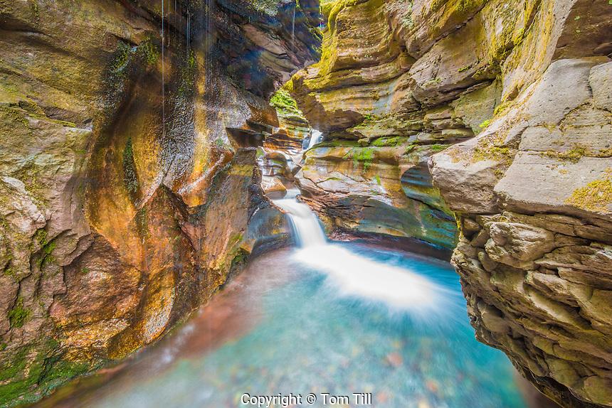 Rocky Mountain slot canyon, Uncompahgre National Forest, Colorado, San Juan Mountains